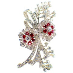 GEMOLITHOS Ruby and Diamond Brooch