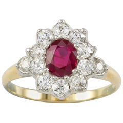 Ruby and Diamond Cluster Ring by Tiffany & Co.