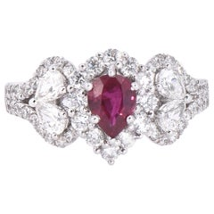 Laviere Ruby and Diamond Cocktail Ring