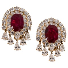 Ruby and Diamond Earring
