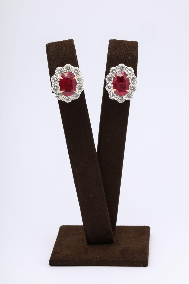 Ruby and Diamond Earrings In New Condition For Sale In New York, NY