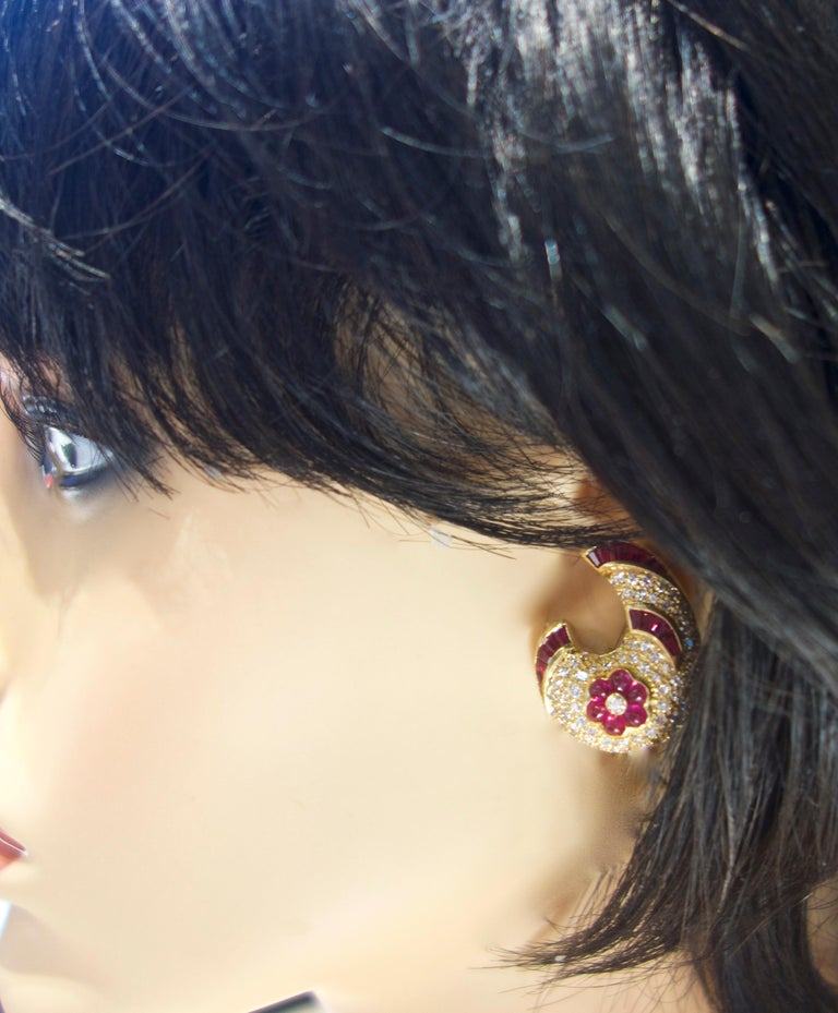 Ruby and Diamond Earrings 3