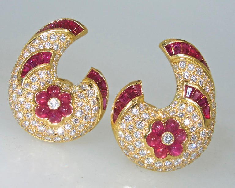 Ruby and Diamond Earrings 4
