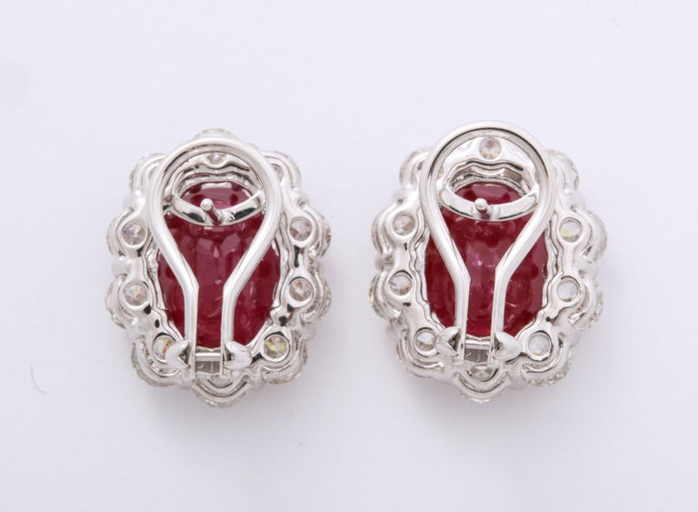 Ruby and Diamond Earrings For Sale 1