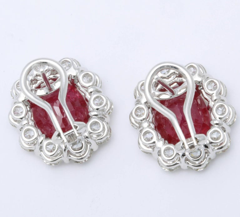 Ruby and Diamond Earrings For Sale 2