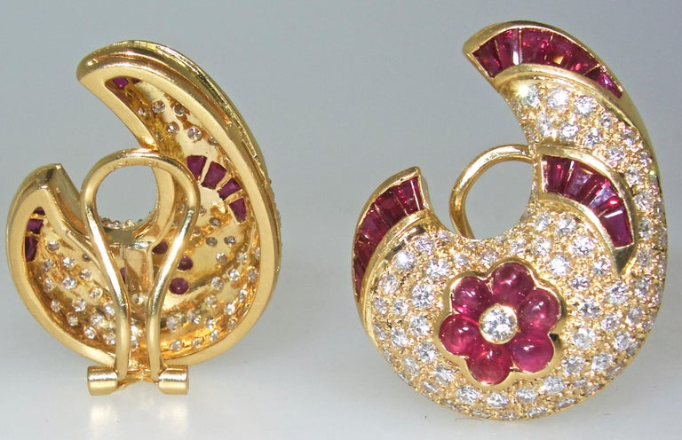 Ruby and Diamond Earrings 5