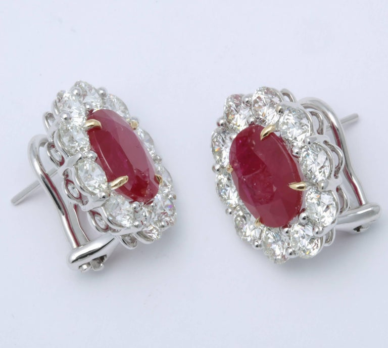 Ruby and Diamond Earrings For Sale 3