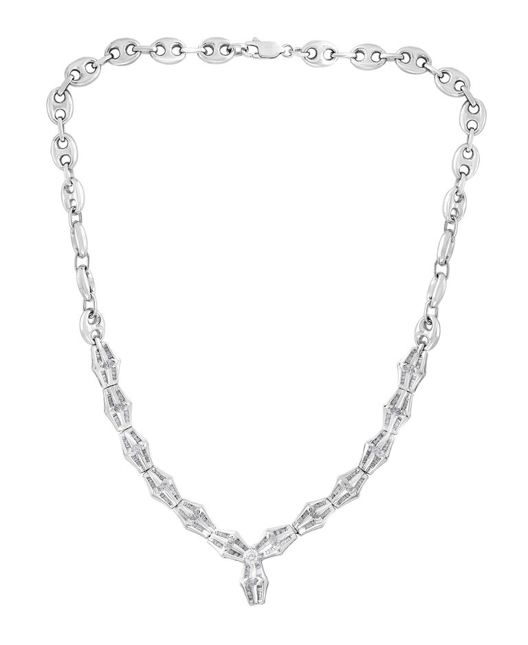 Women's Ruby and Diamond Flower Drop Necklace 14 Karat White Gold For Sale