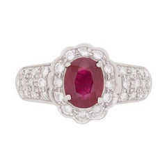 Ruby and Diamond Right Hand Ring