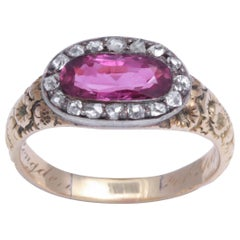 Ruby and Diamond Ring Dated 1819