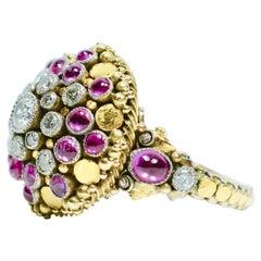 Ruby and Diamond Ring, Elmar Seidler, 1930s