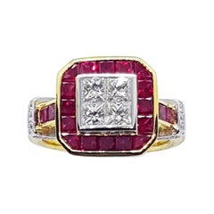 Ruby and Diamond Ring set in 18 Karat Gold Settings