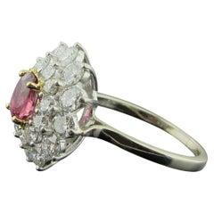 Ruby and Diamond Ring Set in 18 Karat White Gold