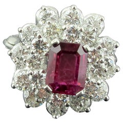 Ruby and Diamond Ring Set in Platrinum
