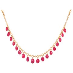 Goshwara Ruby Charm Necklace