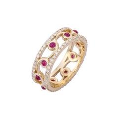 Ruby Diamond 14 Karat Yellow Gold Ring