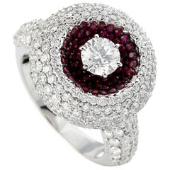 Ruby Diamond 18 Karat Gold Ring