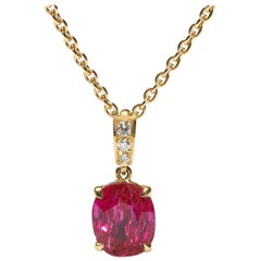 Ruby Diamond and 18 Carat Gold Pendant