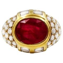 Ruby Diamond Cocktail Ring