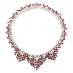 Ruby Diamond Gold Necklace
