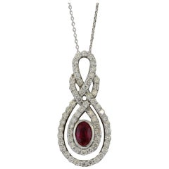 Ruby Diamond Gold Pendant