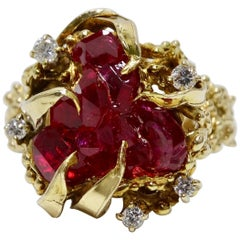 Ruby & Diamond Nest Ring