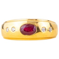 Ruby Diamond Ring 18 Karat