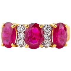Ruby Diamond Ring in 18 Karat Gold