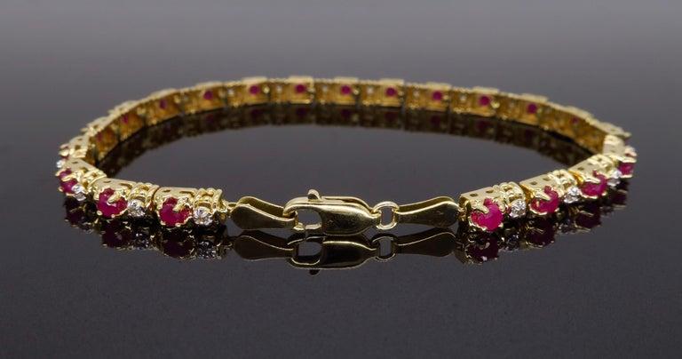 Ruby and Diamond Tennis Bracelet 1