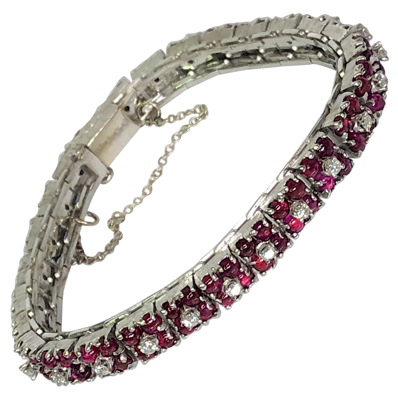 Ruby Diamond Tennis Bracelet