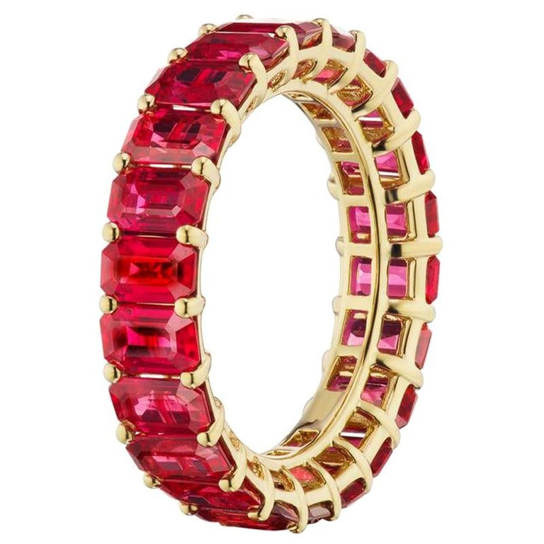 Ruby Eternity Band In 18K Yellow Gold By RayazTakat For Sale
