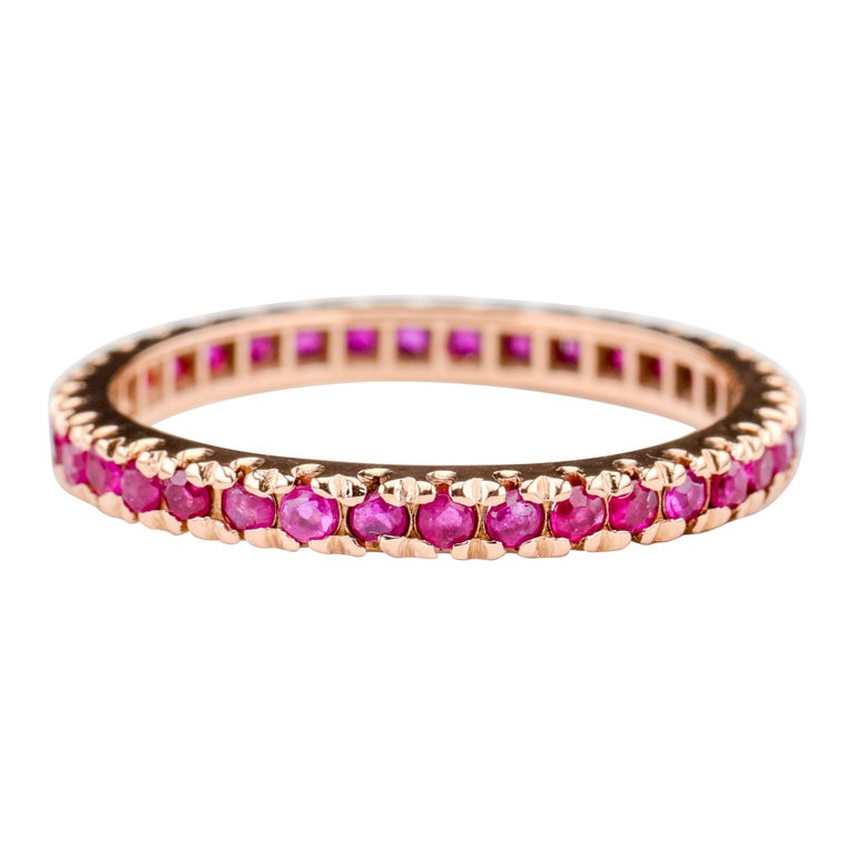 Ruby Eternity Band XL, circa 1940s For Sale