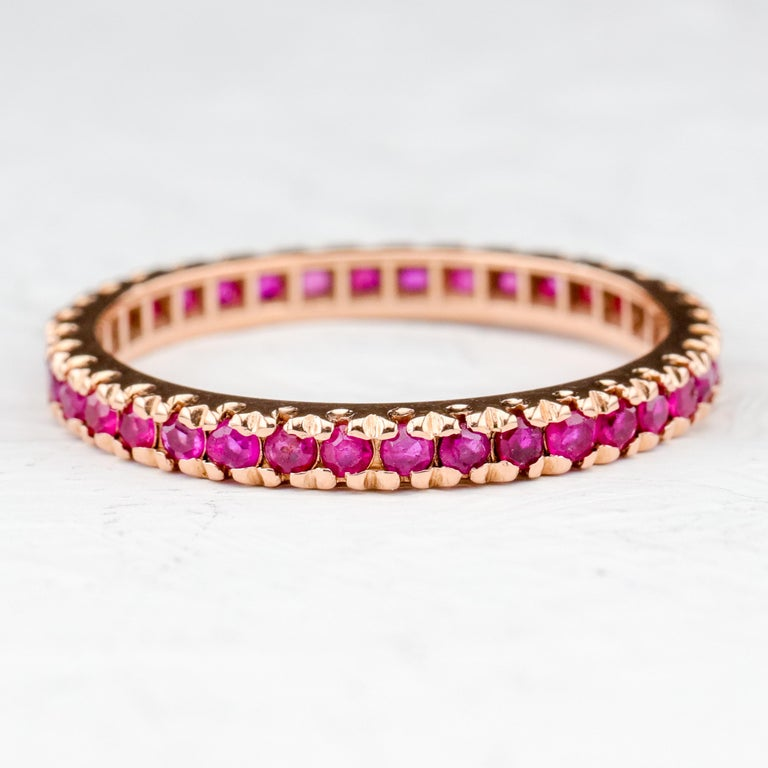 Ruby Eternity Band XL, circa 1940s For Sale 1