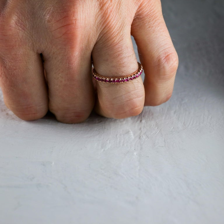 Ruby Eternity Band XL, circa 1940s For Sale 2