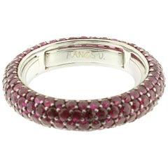 Ruby Eternity Ring in 18 Karat White Gold