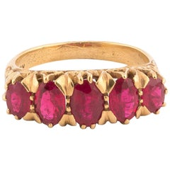 Ruby Five-Stone Ring