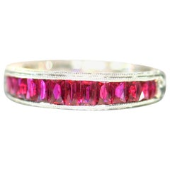 Ruby Gold Band 18 Karat Ring