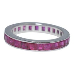 Ruby Platinum Eternity Ring