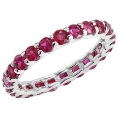 Ruby Prong Set Eternity Band Weighing 2.30 Carat