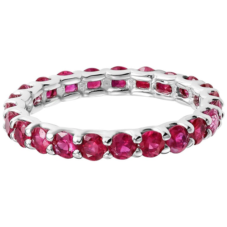 Ruby Prong Set Eternity Band Weighing 2.30 Carat For Sale