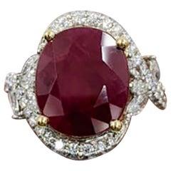 Ruby Red Fancy Diamond Ring