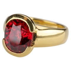 Ruby-Red Spinel Ring Certified Untreated