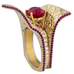 Ruby Ring in Platinum and Gold by Zoltan David