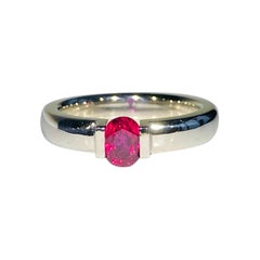 Ruby Ring Set in 14kt White Gold