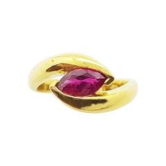 Ruby Ring Set in 18 Karat Gold Settings