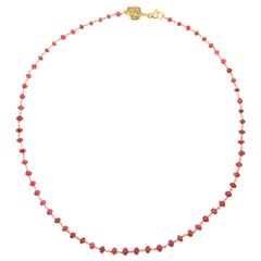 Ruby Rose Gold Necklace Handcrafted in Italy by Botta Gioielli
