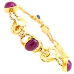 Ruby, Sapphire and Diamond Bracelet