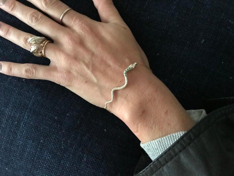 Women's Ruby Tanzanite Snake Bracelet Serpens Gold Fashion Jewelry J Dauphin For Sale