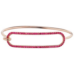 Ruby Tension Bracelet in 18 Karat Yellow Gold