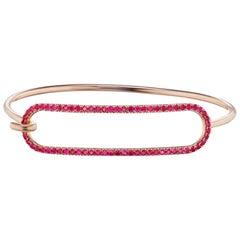 Ruby Tension Bracelet in 18 Karat Yellow Gold